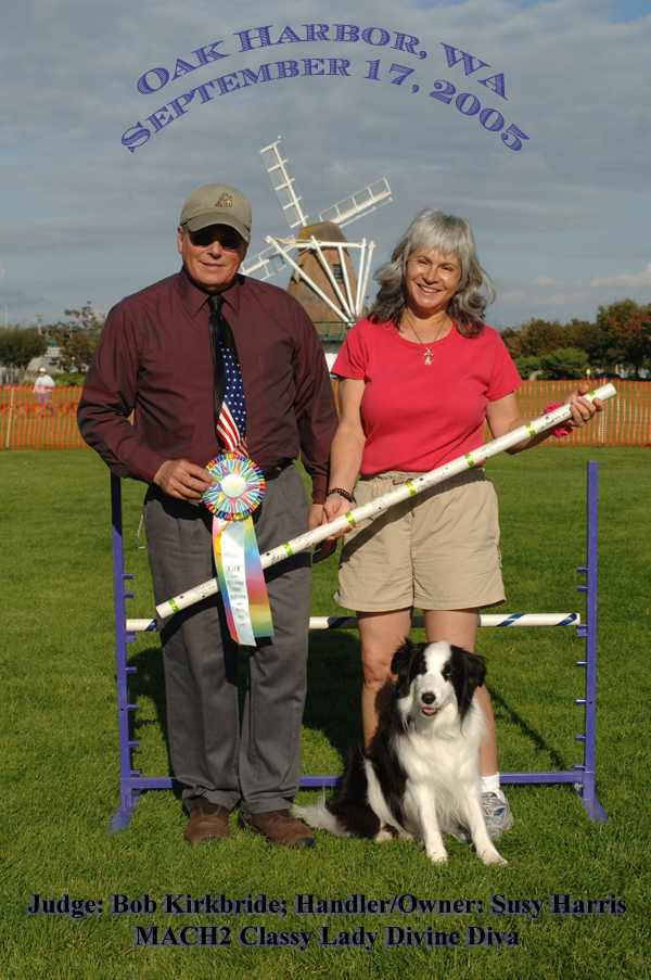 MACH2 Diva with judge Bob Kirkbride and Susy